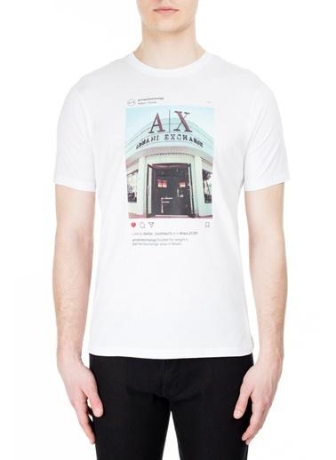 Armani Exchange  T Shirt Erkek T Shırt S 6Gztax Zjh4Z 1100 Beyaz